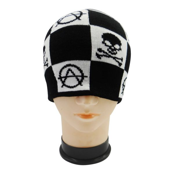 SCULP WITH CROSS BONES & SIGN TOQUE HAT .. NEW