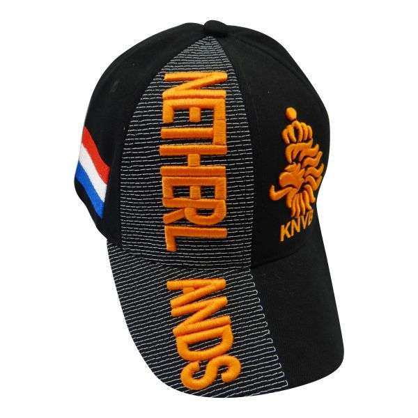 NETHERLANDS Black Country Flag , KNVB LOGO WORLD CUP EMBROIDERED HAT CAP .. NEW