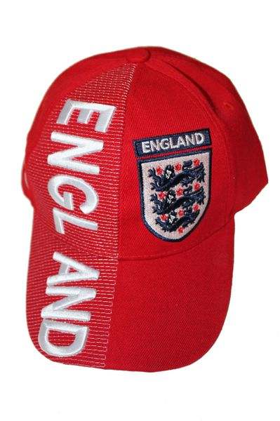 ENGLAND RED COUNTRY FLAG EMBOSSED HAT CAP .. NEW