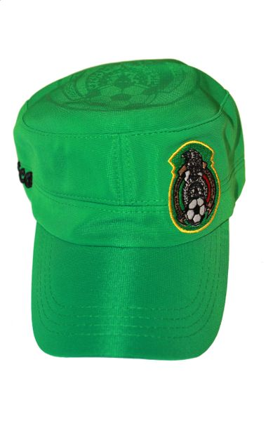 MEXICO GREEN FIFA SOCCER WORLD CUP MILITARY STYLE HAT CAP .. NEW