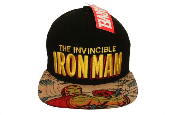 THE INVINCIBLE IRON MAN BLACK LICENSED SNAPBACK HIP HOP HAT CAP .. REGISTERED TRADEMARK : MARVEL . FOR ADULTS & TEENS , AGES : 10+ .. HIGH QUALITY .. NEW
