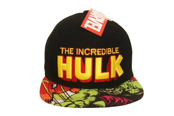 THE INCREDIBLE HULK BLACK LICENSED SNAPBACK HIP HOP HAT CAP .. REGISTERED TRADEMARK : MARVEL . FOR ADULTS & TEENS , AGES : 10+ .. HIGH QUALITY .. NEW