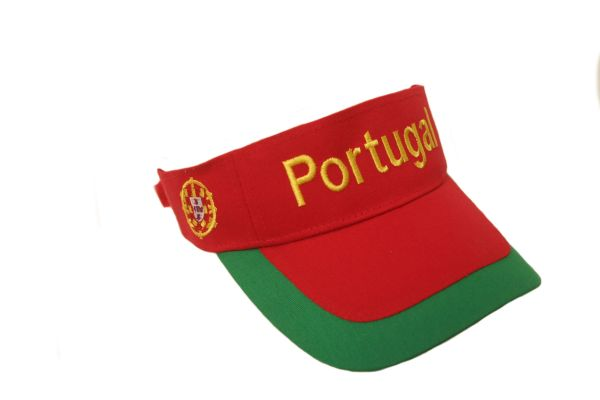 PORTUGAL COUNTRY FLAG SUN VISOR HAT CAP .. HIGH QUALITY .. NEW