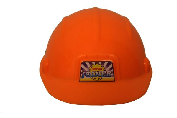 KIDS CHILD'S PLASTIC TOY SUPER SAFETY HARD HAT