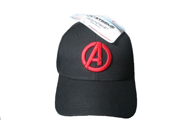 A BLACK EMBOSSED HAT CAP .. AVENGERS MARVEL