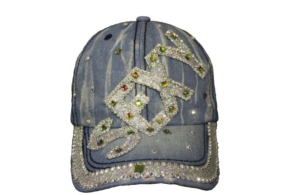 SEXY DENIM RHINESTONE STUDDED HAT CAP