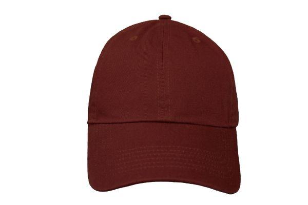 BURGUNDY PLAIN HAT CAP .. NEWHATTAN