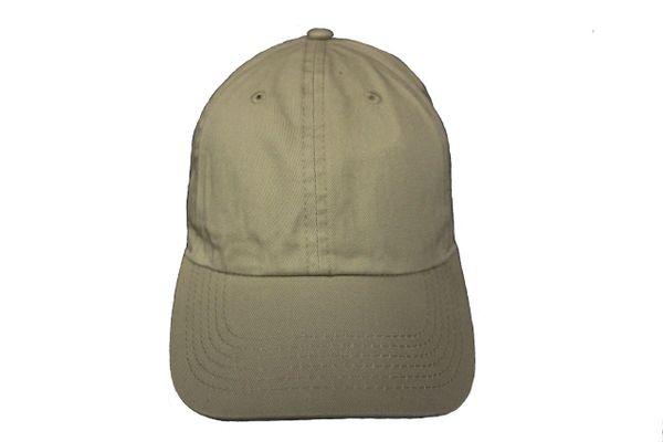 KHAKI PLAIN HAT CAP .. NEWHATTAN