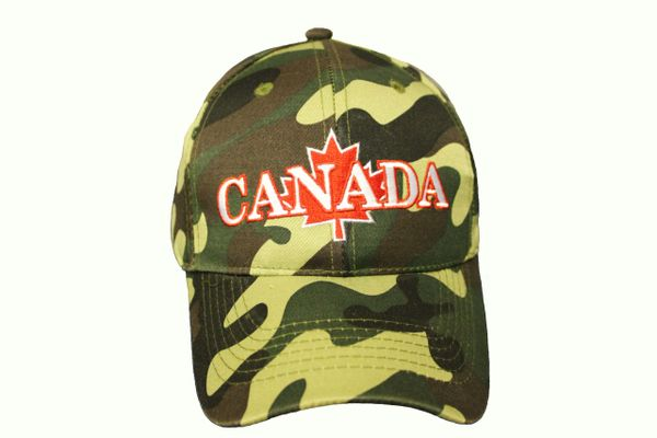 CANADA & MAPLE LEAF CAMOUFLAGE HAT CAP
