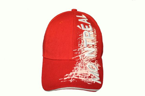 MONTREAL TITLE WITH WHITE SKETCH' DRAWING RED EMBROIDERED HAT CAP