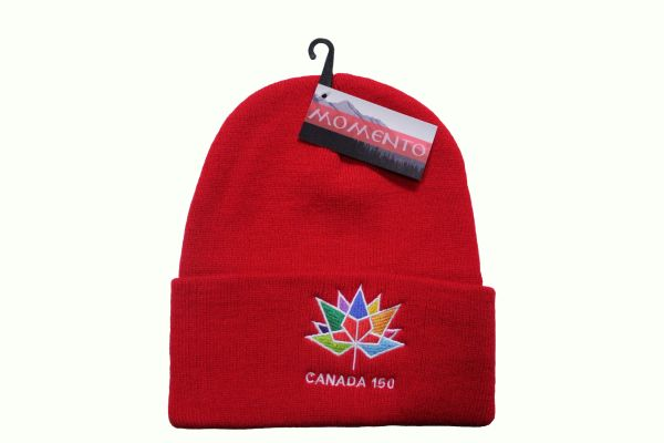 CANADA 150 Year Anniversary 1867-2017 Colored Logo RED TOQUE HAT CAP