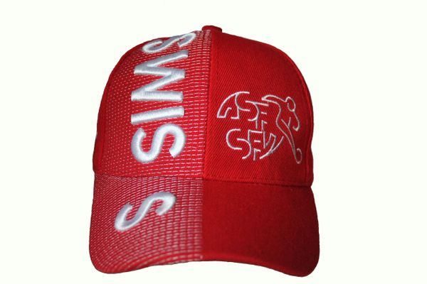 SWISS National Football Team ASF - SFV Logo , Country Flag EMBOSSED HAT CAP