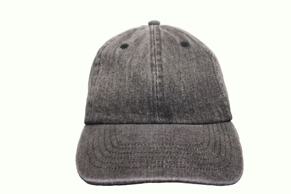 DARKGREY DENIM HAT CAP .. NEWHATTAN
