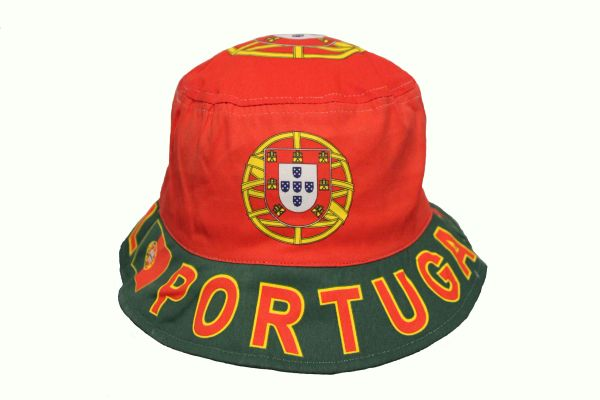 PORTUGAL COUNTRY FLAG ADULTS BUCKET HAT CAP SIZE 59 Cm OR 7 3/8