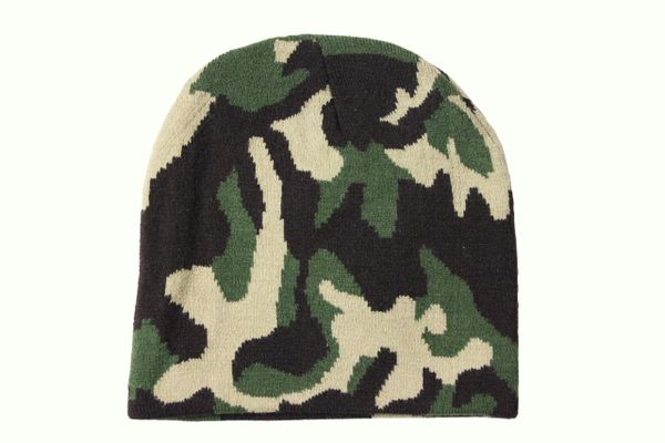 CAMOUFLAGE TOQUE HAT