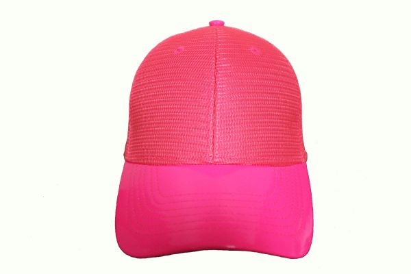 HOTPINK MESH TRUCKER Hat Cap .. NEWHATTAN