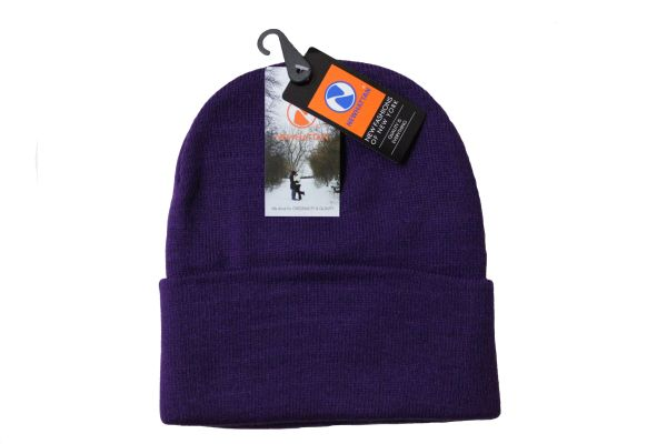 PURPLE TOQUE HAT With BRIM .. NEWHATTAN .. Size : ONE SIZE