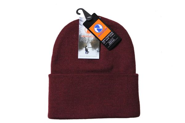 BURGUNDY TOQUE HAT With BRIM .. NEWHATTAN .. Size : ONE SIZE