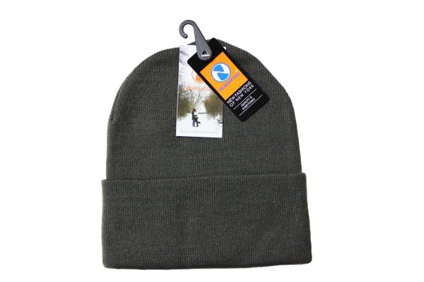 OLIVE TOQUE HAT With BRIM .. NEWHATTAN .. Size : ONE SIZE