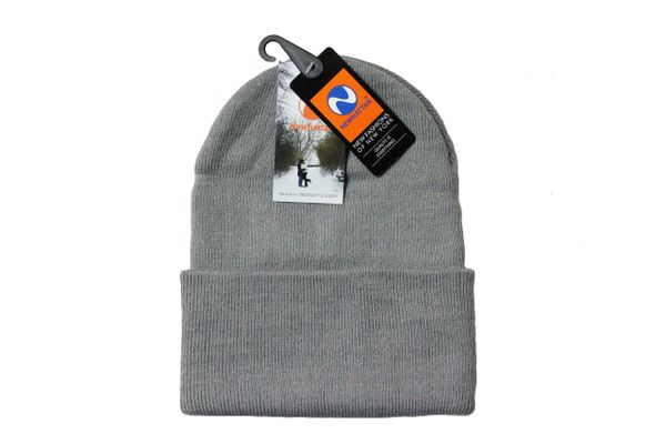 LIGHTGREY TOQUE HAT With BRIM .. NEWHATTAN .. Size : ONE SIZE
