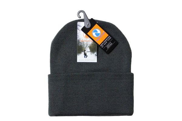 DARKGREY TOQUE HAT With BRIM .. NEWHATTAN .. Size : ONE SIZE