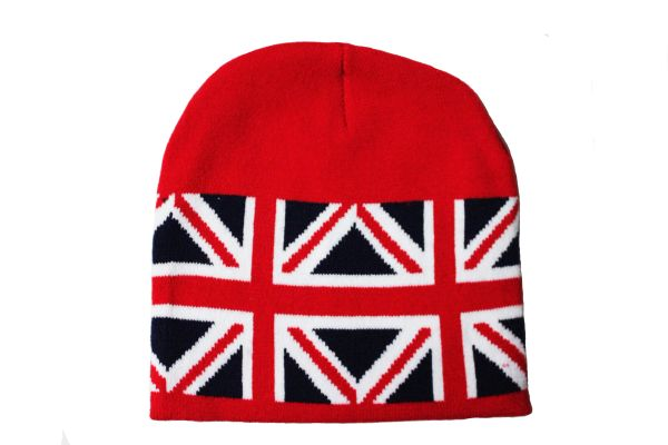 UNITED KINGDOM UK Country Flag Red TOQUE HAT