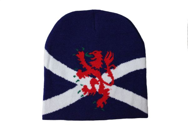 SCOTLAND BLUE COUNTRY FLAG WITH LION TOQUE HAT .. NEW