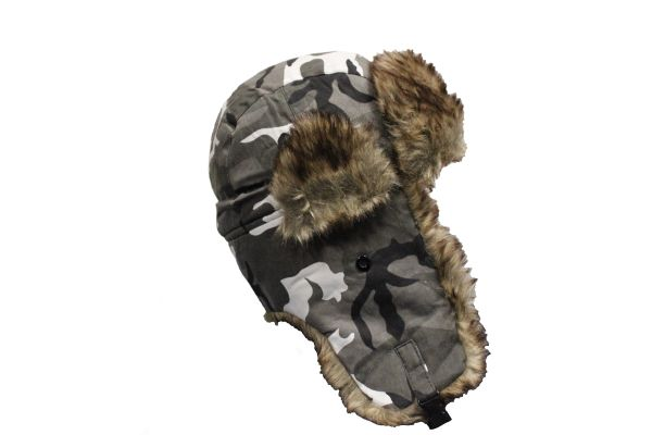 ARCTIC CAMOUFLAGE TRAPPER FURRY WINTER Hat