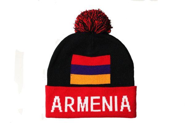 ARMENIA TITLE Country Flag TOQUE HAT With POM POM