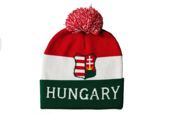 HUNGARY TITLE Country Flag TOQUE HAT With POM POM