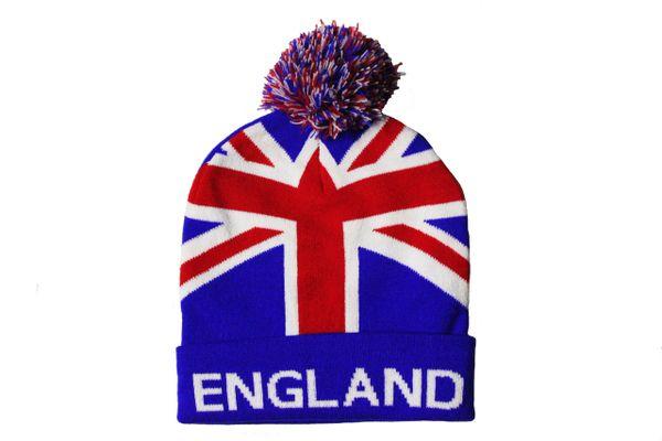 ENGLAND TITLE Country Flag TOQUE HAT With POM POM