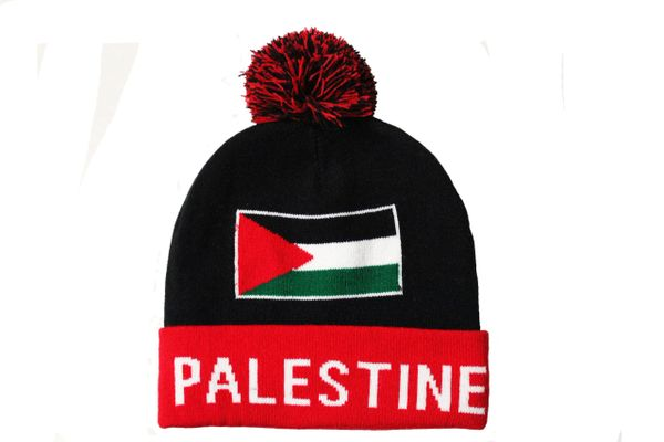 PALESTINE TITLE Country Flag TOQUE HAT With POM POM