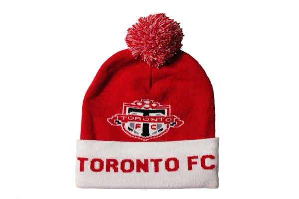 TORONTO FC MLS Soccer Football Logo TOQUE HAT With POM POM