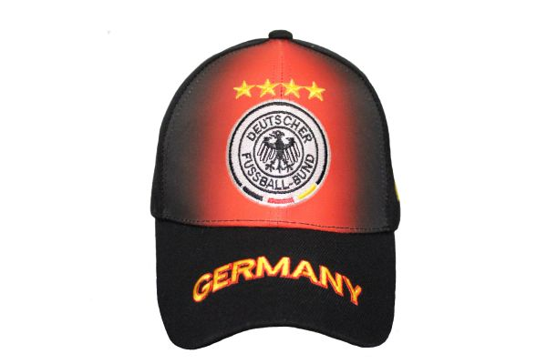 GERMANY Black Red 4 Stars DEUTSCHER FUSSBALL - BUND Logo FIFA World Cup EMBROIDERED HAT CAP