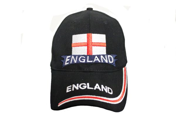 ENGLAND Black Country Flag EMBROIDERED HAT CAP