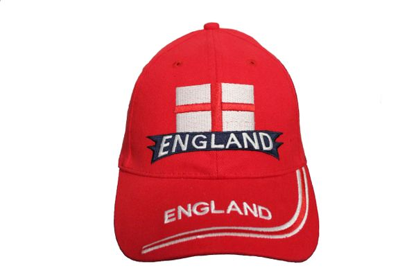 ENGLAND Red Country Flag EMBROIDERED HAT CAP