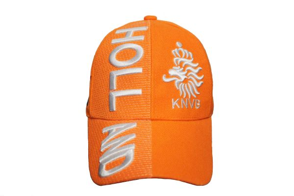 HOLLAND Orange KNVB Logo FIFA World Cup EMBOSSED HAT CAP