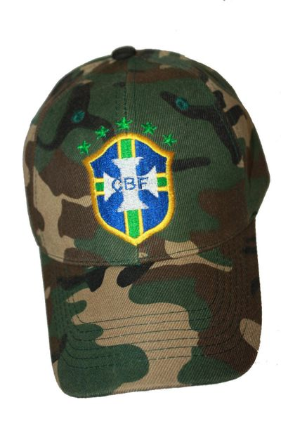 BRASIL 5 Stars CBF Logo FIFA WORLD CUP CAMOUFLAGE HAT CAP