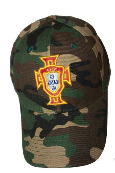PORTUGAL FPF Logo FIFA WORLD CUP CAMOUFLAGE HAT CAP