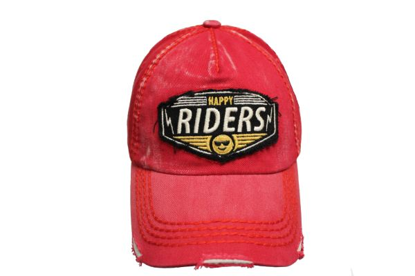 HAPPY RIDERS Red Stone - Washed Worn Look VINTAGE HAT CAP