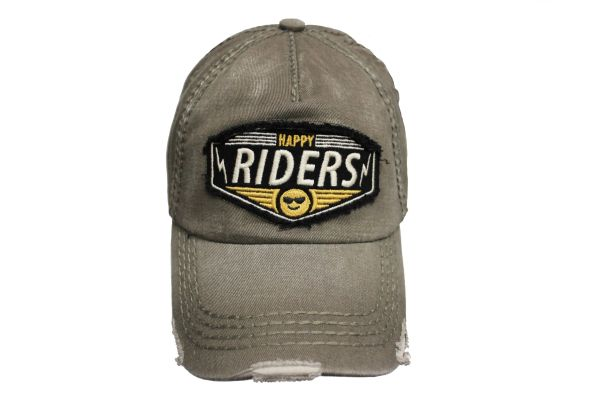 HAPPY RIDERS Olive Stone - Washed Worn Look VINTAGE HAT CAP