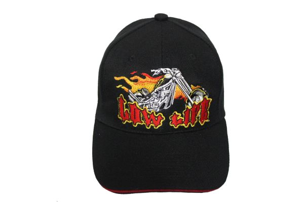 LOW LIFE Black Embroidered HAT CAP With Velcro Strap For Adjustment
