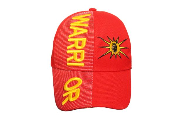 WARRIOR With MOHAWK Logo Red Embossed HAT CAP
