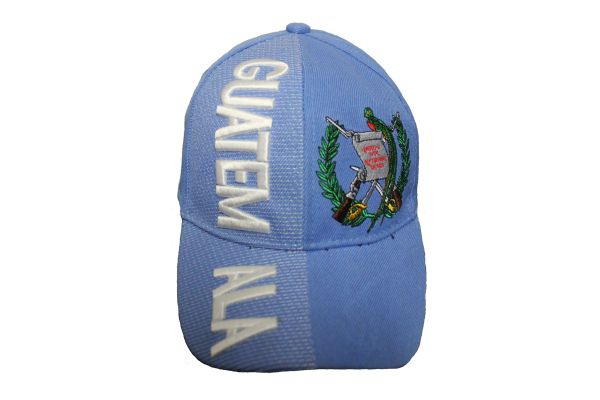 GUATEMALA BLUE WHITE COUNTRY FLAG , EMBOSSED HAT CAP .. NEW