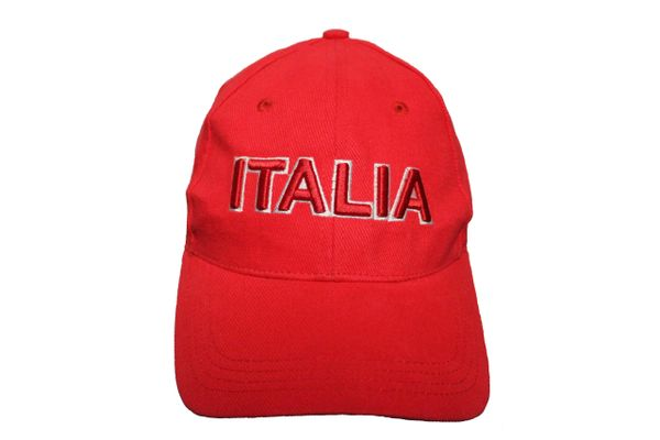 ITALIA RED EMBOSSED HAT CAP .. NEW
