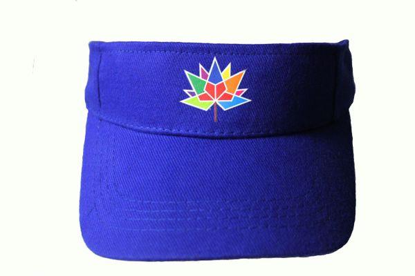 CANADA 150 BLUE SUN VISOR HAT CAP... NEW