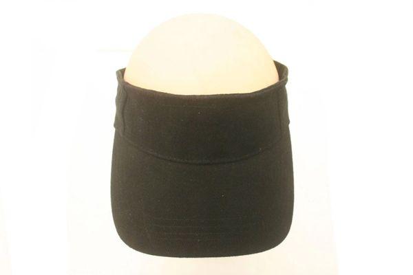 BLACK SUN VISOR HAT CAP... NEW