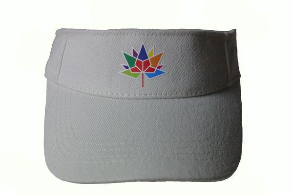 CANADA 150 WHITE SUN VISOR HAT CAP... NEW
