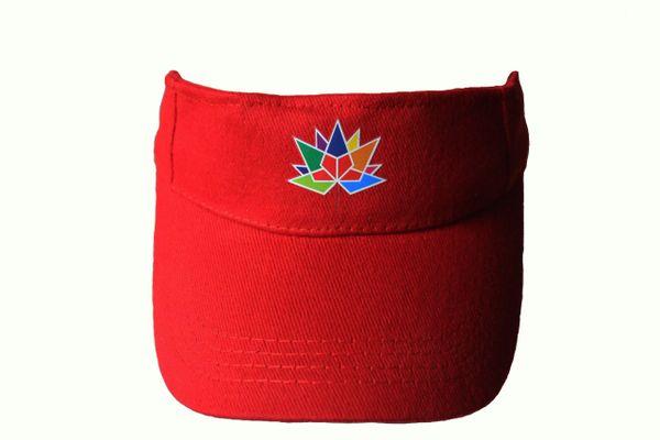 CANADA 150 RED SUN VISOR HAT CAP... NEW