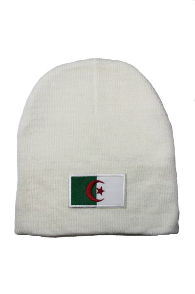 Algeria Country Flag Beanie Knitted Toque WHITE HAT CAP.... NEW